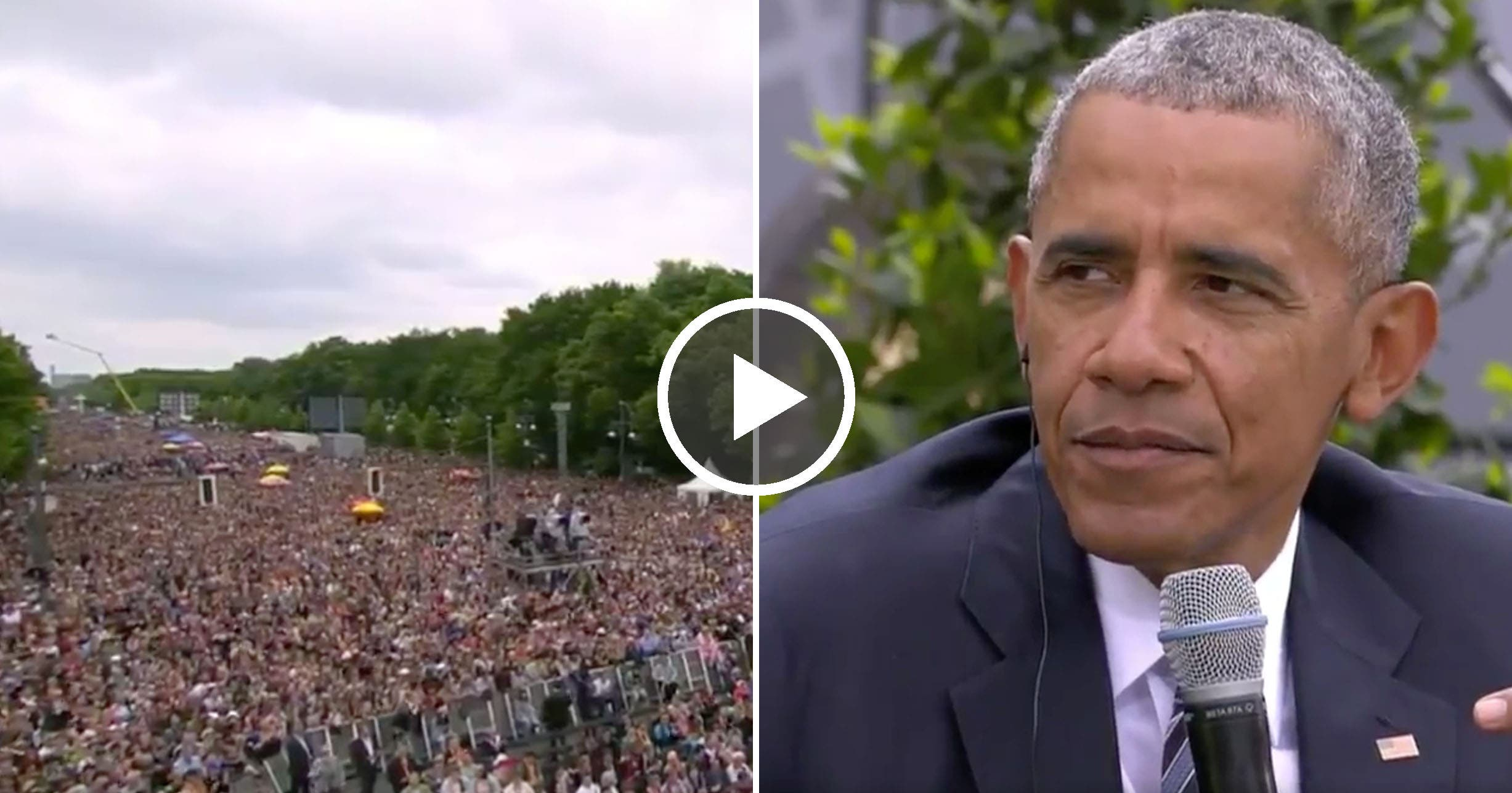 Obama Just Crashed Trump's Europe Trip And Said What Trump Won't In A Major Speech